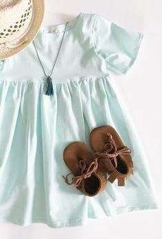 Handmade Mint Twirl Dress | BohemianBabies on Etsy