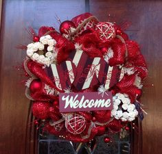 Welcome Valentine's Day Wreath by HertasWreaths on Etsy