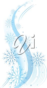 Royalty Free Clipart Image of a Swirling Snowflake Pattern