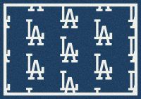 MLB Los Angeles Dodgers Mats - Los Angeles Dodgers MLB Repeating Logo Nylon Area Rug. $199.99 Only.
