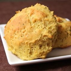 Eggs, cream cheese, and cream of tartar are baked together forming cloud bread, a gluten-free fluffy bread substitute.
