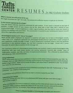 tufts career center cover letter or resume tips and examples