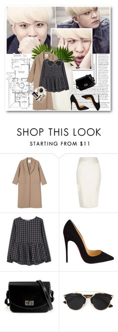 """"""".185"""" by i-love-louis-thetommo-tomlinson on Polyvore featuring Monki, River Island, MANGO, Christian Louboutin, Christian Dior, Bobbi Brown Cosmetics, Casetify, women's clothing, women's fashion and women"""