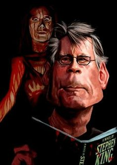 Stephen King---My favorite author! Stephen King It, Steven King, Funny Caricatures, Celebrity Caricatures, Carrie 2013, King Author, Carrie White, Caricature Drawing, King Art