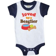 Inktastic Beaglier Dog Lover Infant Creeper Baby Bodysuit Loved By Dogs Pets Cute Gift One-piece Hws, Infant Boy's, Size: 24 Months, Blue
