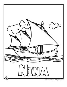 Columbus Day Coloring Pages   Classroom Jr.