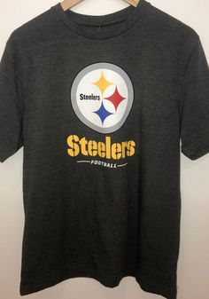 Pittsburgh Steelers Charcoal Sport Drop Short Sleeve Fashion T Shirt - 17282562 Pittsburgh Pirates, Pittsburgh Penguins, Pittsburgh Steelers, Steelers T Shirts, Steelers Football, Pitt Panthers, Team Names, Charcoal, Short Sleeves