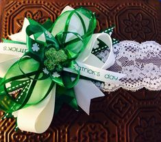 Items similar to St Patricks Day Headband, Infant Headband on Etsy Holiday Hair Bows, Baby Headbands, St Patricks Day, Gift Wrapping, Christmas Ornaments, Holiday Decor, Unique Jewelry, Handmade Gifts, Vintage