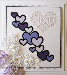 Hello crafters! Happy Valentine's Day too! I thought this lovely Cascading Heart card would make just the perfect giveaway card for tod...