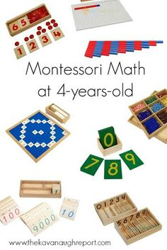 Montessori math at 4-years-old