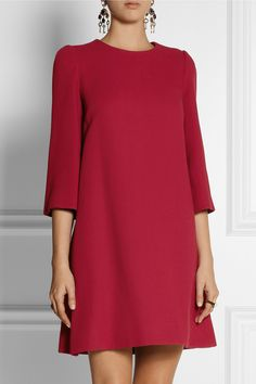 Dolce & Gabbana | Wool-blend mini dress | Red