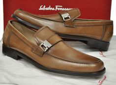 ferragamo mens shoes | New Salvatore Ferragamo Mens Shoes Pregiato Side Bit Loafer $550 ...