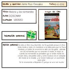 Una lectura que no solo recomienda Jaime, también lo hago yo ;-) Obelix, Author, Reading, Book