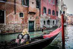 Venice Gondola Photo Venice Canals Photo by PatrickRabbatPhotos