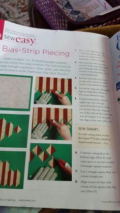 bias strip piecing