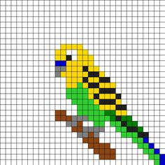 Parakeet_on_a_stik by Tjalle on Kandi Patterns