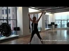 Tracy Anderson Method New Years Webisode arms, legs, abs with towel
