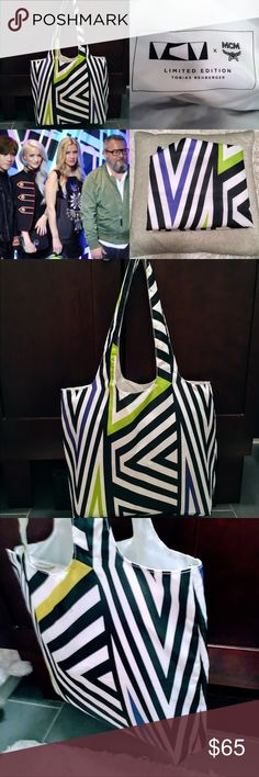 """RARE! 100% Authentic MCM x Tobias Rehberger RARE! 100% Authentic MCM x Tobias Rehberger Foldable Shoulder Tote. This is very rare from an already limited edition collection - from exclusive launch of the collaboration. Only used once - good condition! A few very minor scoffs inside the bag (see photos) - barely (if at all) noticeable when worn.  Measures approximately 14"""" tall and 16"""" wide. Handle approximately 10.5"""". MCM Bags Totes"""