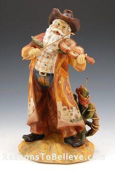 cowboy santa | Cowboy Santa | Santa Claus Figurines and Hand Carved Wooden Santas