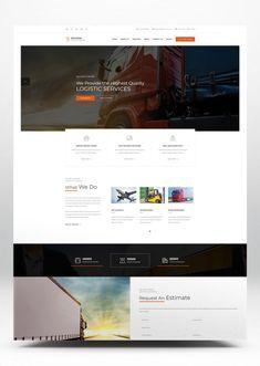 Logistics HTML Website Template Business Website Templates, Web Design, Transport Companies, Transportation Services, Design Projects, Warehouse, Profile, User Profile, Design Web