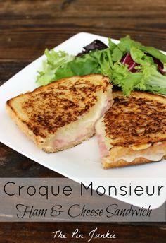 Croque Monsieur Ham and Cheese Sandwich