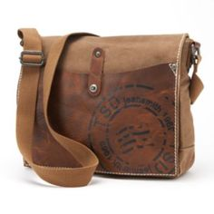 The Same Direction Military-Inspired Leather Super Horse Messenger Bag