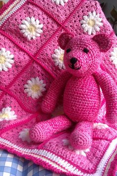 Daisy blanket & Bear