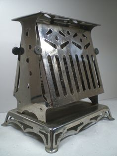 Vintage Chrome Toaster, Art Deco