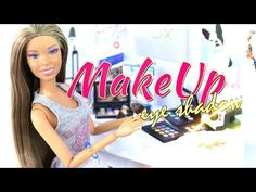 How to Make Doll Make Up Eye Shadow Doll Crafts - YouTube
