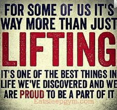 yes. lifting is seriously the best thing that I have fallen in love with