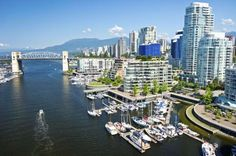 Beautiful view of Vancouver, British Columbia, Canada.