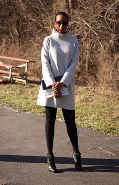 Beaute' J'adore: DIY Mod Sweatshirt Dress