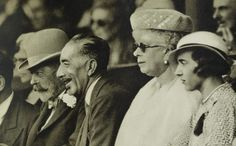 Miss Honoria Glossop:  King George V, King Faisal of Iraq, Queen Mary, Princess Ingrid of Sweden at Wimbledon