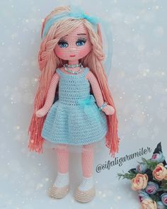 My Favorite Crochet Bear - Craft & Patterns Yarn Dolls, Knitted Dolls, Crochet Dolls, Crochet Doll Tutorial, Crochet Doll Pattern, Crochet Bunny, Cute Crochet, Craft Patterns, Doll Patterns