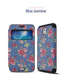 Lovely Flowers Magnetic Lock View Cover for LG G Pro 2