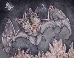 two headed bat by CaitlinHackett