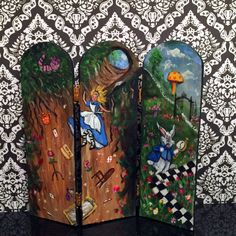 Cactus Hand Painted Rustic Room Divider Rustic room Divider and