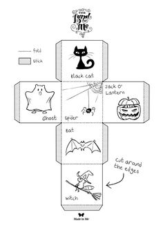 Spooky Story Dice: Roll the story element dice and write a Halloween story!