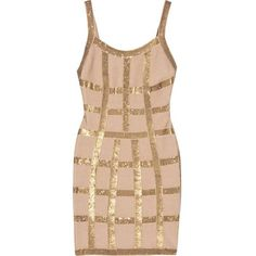 Bqueen Sequined Bandage Dress H300J ($179) ❤ liked on Polyvore