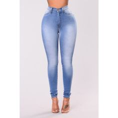 Classic High Waist Skinny Jeans Light Blue ($35) ❤ liked on Polyvore featuring jeans, super skinny jeans, high-waisted jeans, high rise skinny jeans, denim skinny jeans and light blue jeans