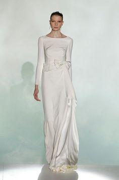 Satin long sleeve wedding dress. Rosa Clara, Spring 2013