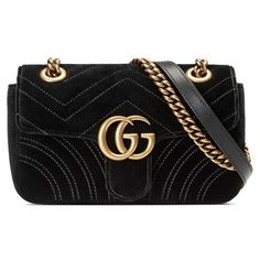 Women's Gucci Small Gg Marmont 2.0 Matelasse Velvet Shoulder Bag ($1,490) ❤ liked on Polyvore featuring bags, handbags, shoulder bags, nero, over the shoulder handbags, shoulder hand bags, velvet handbags, flap shoulder bag and gucci purse