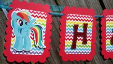 My Little Rainbow Dash Pony birthday party by PurplePaperCrafts