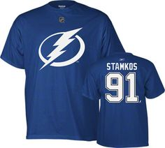 Steven Stamkos Blue Reebok Name and Number Tampa Bay Lightning T-Shirt. Stamkos is THE best goal scorer in the NHL today