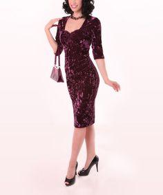 Loving this Purple Shirred Bodycon Dress - Women & Plus on #zulily! #zulilyfinds