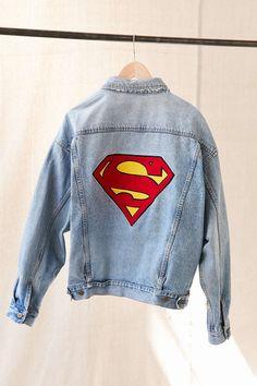 Vintage Superman Patch Denim Jacket