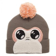 Star Wars Porg Creature Pom Beanie Warm Winter Hat Cap The Last Jedi Faux Fur #Bioworld #Beanie
