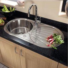 Single Round Bowl Reversible Sink