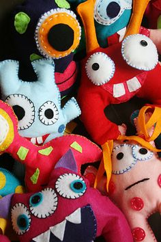 Needle Felt Monsters - hand made for the party favour bags