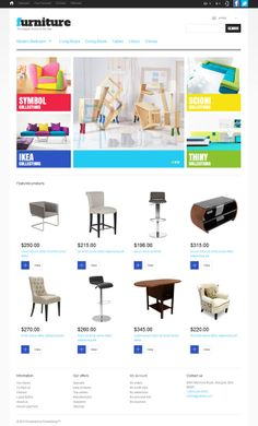 Prestashop template #home #furniture #ecommerce #responsive